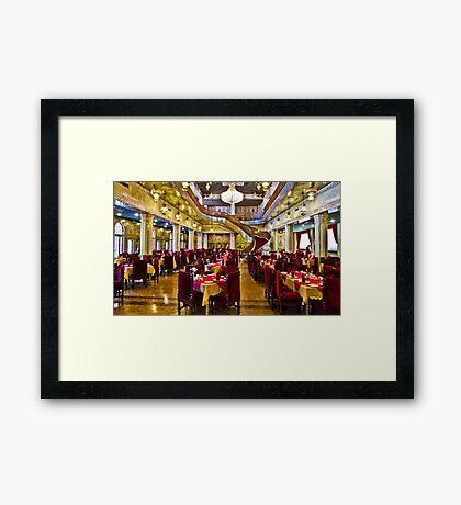 The Amazing Abbasi Hotel - Restaurant - Esfahan - Iran Framed Print