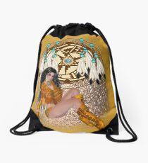 Indian Maiden Drawstring Bag