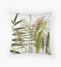 Australian Ferns Throw Pillow