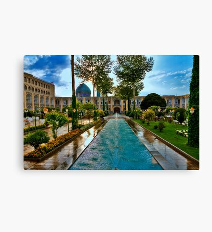 The Amazing Abbasi Hotel - Courtyard Fountains - Esfahan - Iran Canvas Print