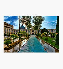 The Amazing Abbasi Hotel - Courtyard Fountains - Esfahan - Iran Photographic Print