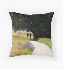 Walking To Castle Hill Throw Pillow