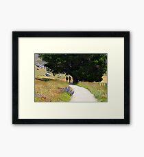 Walking To Castle Hill Framed Print