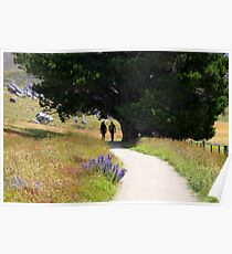 Walking To Castle Hill Poster