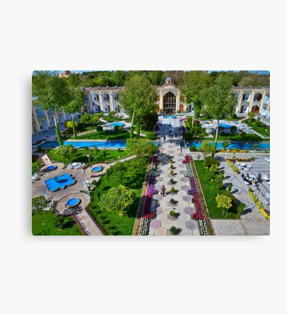 The Amazing Abbasi Hotel - Courtyard From Four Stories High  - Esfahan - Iran Canvas Print