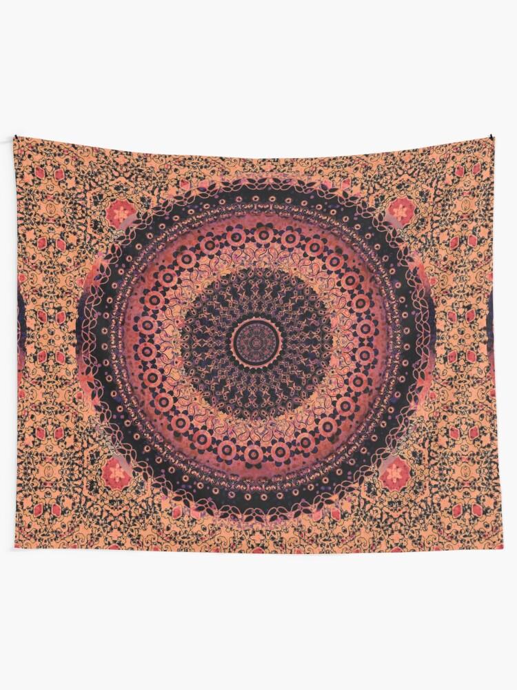 Alternate view of Spice Tapestry Mandala Tapestry