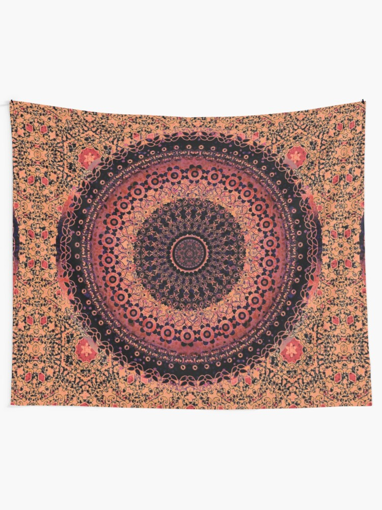 Alternate view of Spice Tapestry Mandala Tapestry