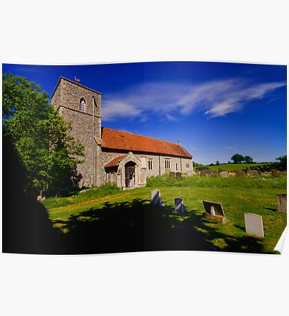 St Giles, Houghton St Giles Poster