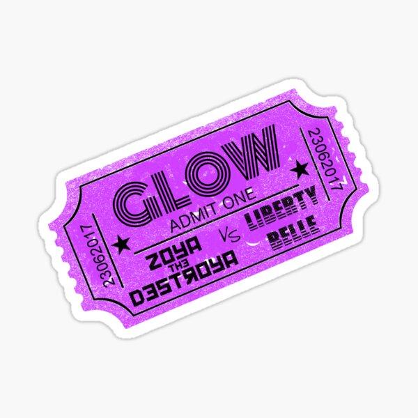 GLOW TICKET Sticker