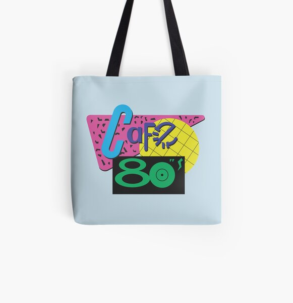 Back To The Cafe 80's All Over Print Tote Bag