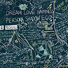 BTS PERSONA Karte der Soul RM Chalkboard Graphic von imgoodimdone