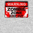 Zombie Zone Keep Out With Blood Splash Zipped Hoodie By Alma Studio Redbubble