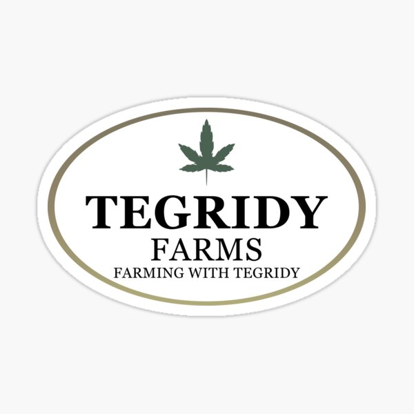 Tegridy Farms - Farming with Tegridy Sticker