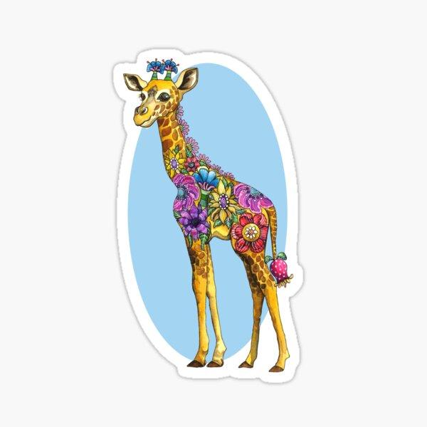 Geraldine the Genuinely Nice Giraffe Blue Sticker