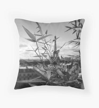 Eiffel planter Throw Pillow