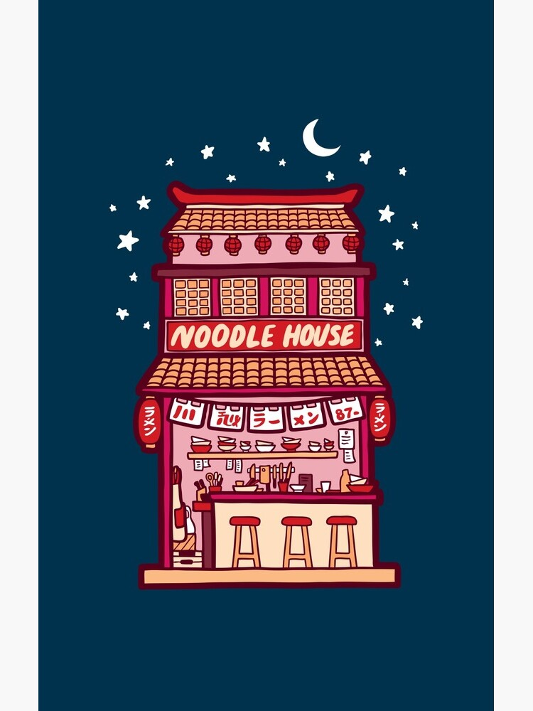 Noodle House at Night by evannave
