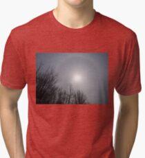 Sun Halo Through the Trees Tri-blend T-Shirt