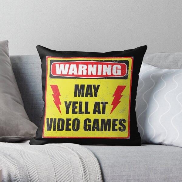 Gamer Warning Throw Pillow
