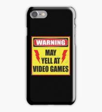 Gamer Warning iPhone Case/Skin