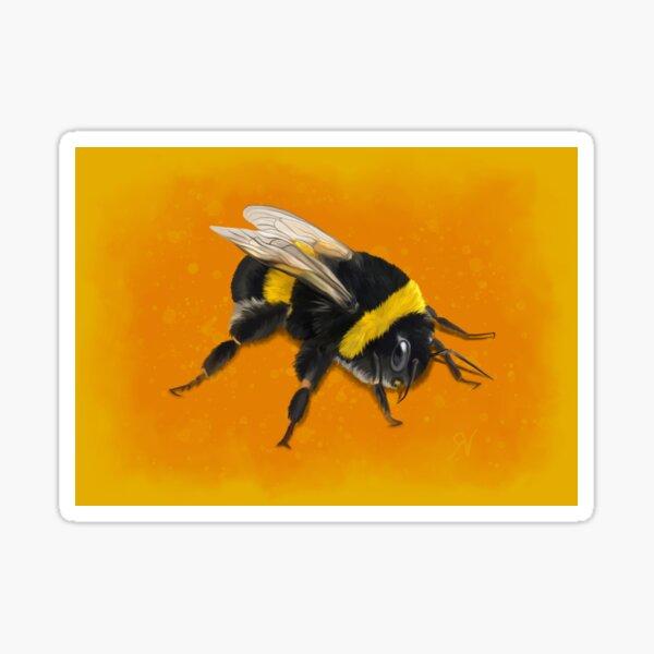 Fuzzy Bumblebee Sticker