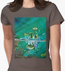 Frog Splash #2 Women's Fitted T-Shirt