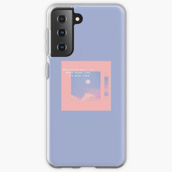 BTS RM Moonchild Letra Funda blanda para Samsung Galaxy