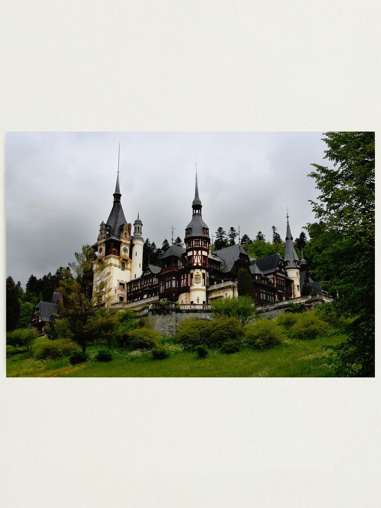 Alternate view of Peles Castle, Sinaia, Romania Photographic Print