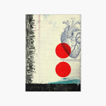 Heart 01 - Modern Abstract Collage Art Board Print