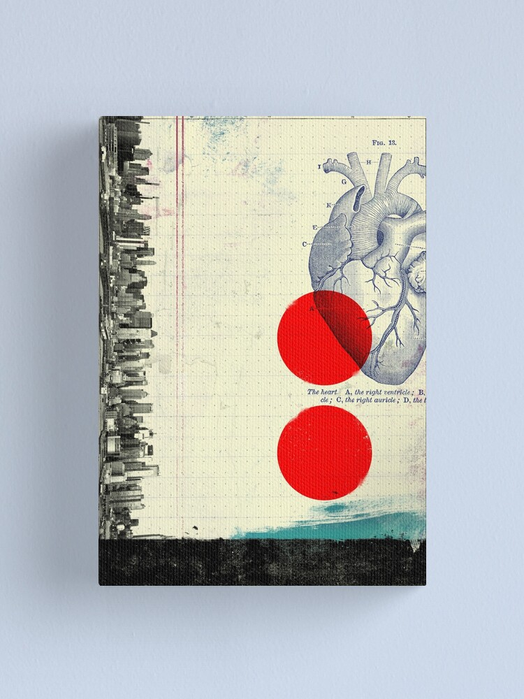 Alternate view of Heart 01 - Modern Abstract Collage Canvas Print