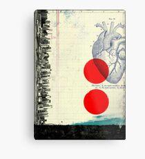 Lienzo metálico Corazón 01 - Collage Abstracto Moderno