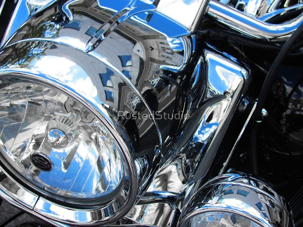 Harley's Lights - Harley Davidson Headlamps by RustedStudio