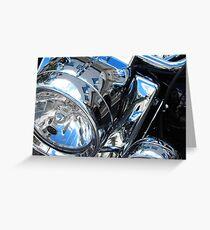 Harley's Lights - Harley Davidson Headlamps Greeting Card