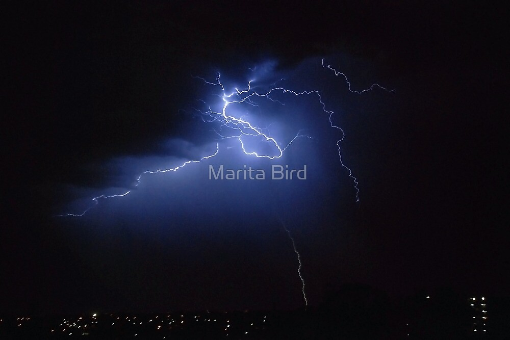 Another electrical storm - Perth, Western Australia (26-2-2010) by Marita Bird
