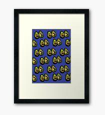 Avocado - Blue Framed Print