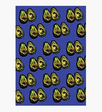 Avocado - Blue Photographic Print