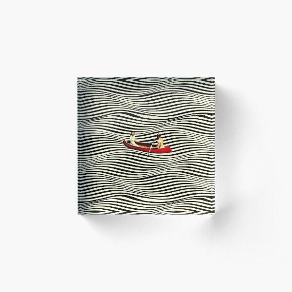 Illusionary Boat Ride Acrylic Block