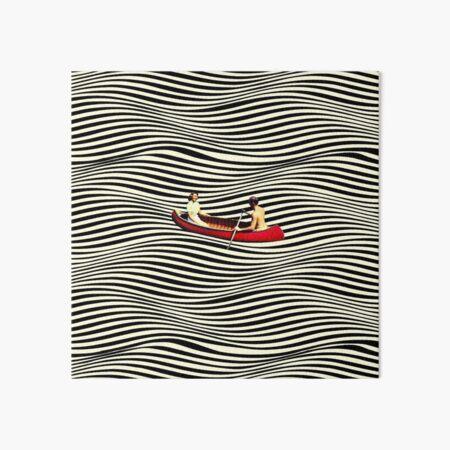 Illusionary Boat Ride Art Board Print