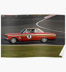 Ford Falcon (1963 Red) Poster