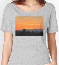 Orange Sunset in The Smokies Women's Relaxed Fit T-Shirt