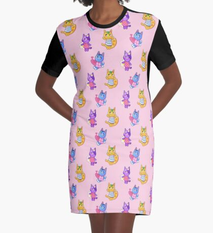 Rosie, Bob & Tangy  Graphic T-Shirt Dress
