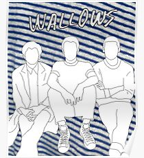 Wallows Outline with Nothing Happens Background Poster