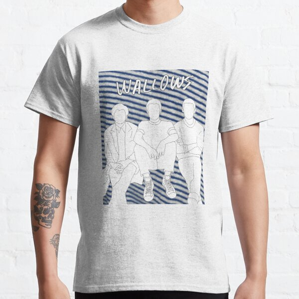 Wallows Outline with Nothing Happens Background Classic T-Shirt