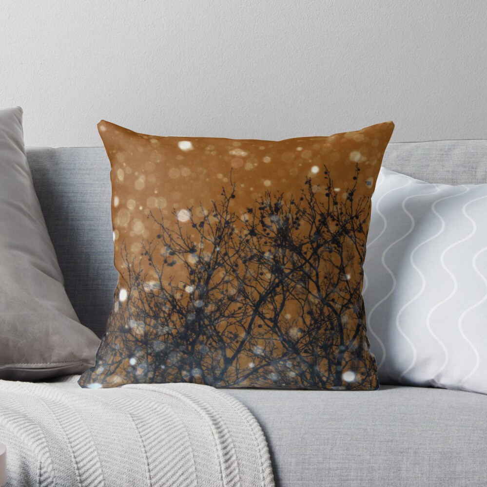 Height of the Blizzard - Snowstorm Art Photography - Gift for Weather Lovers Throw Pillow
