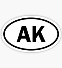 Alaska - AK - oval sticker Sticker