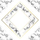 Marble Geometric Texture Pattern #9 - White, Gold, Black by iamnickv