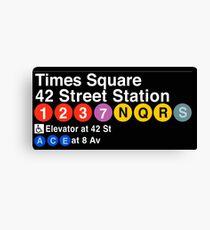 Lienzo Señal de metro de Times Square