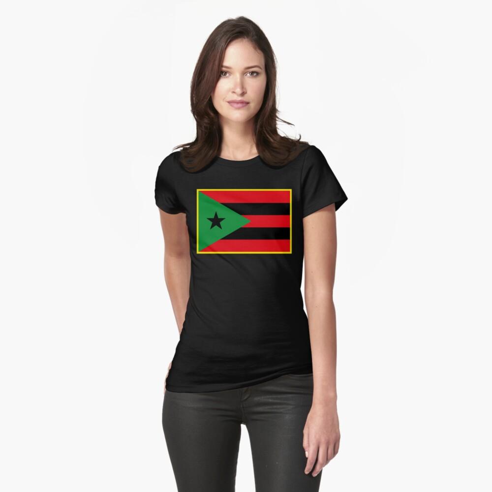Bandera afro puertorriqueña Camiseta entallada