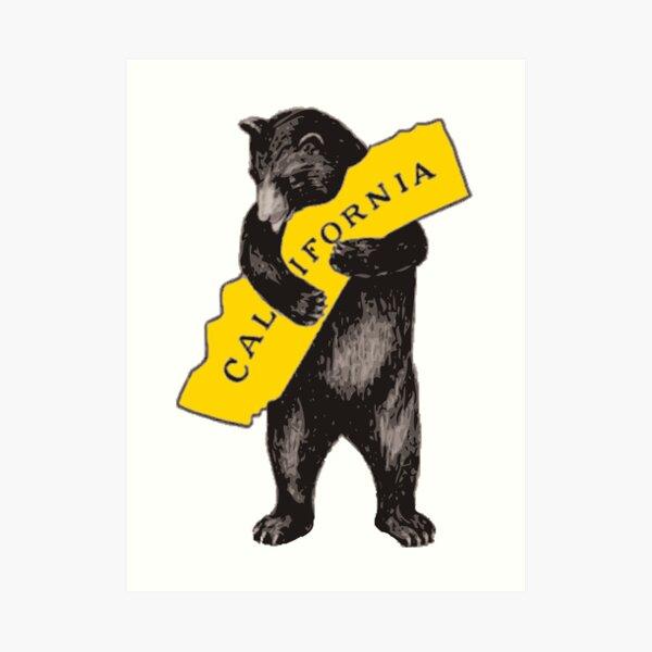 Vintage California Bear Hug Illustration Art Print