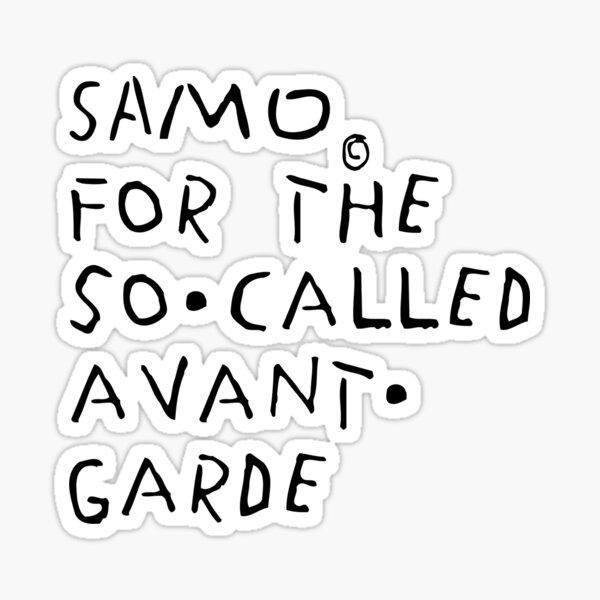 For The So Called Avant Garde Sticker