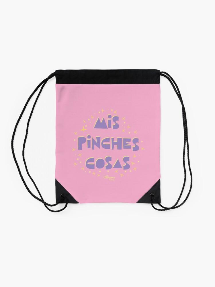 Alternate view of Mis Pinche Cosas Drawstring Bag
